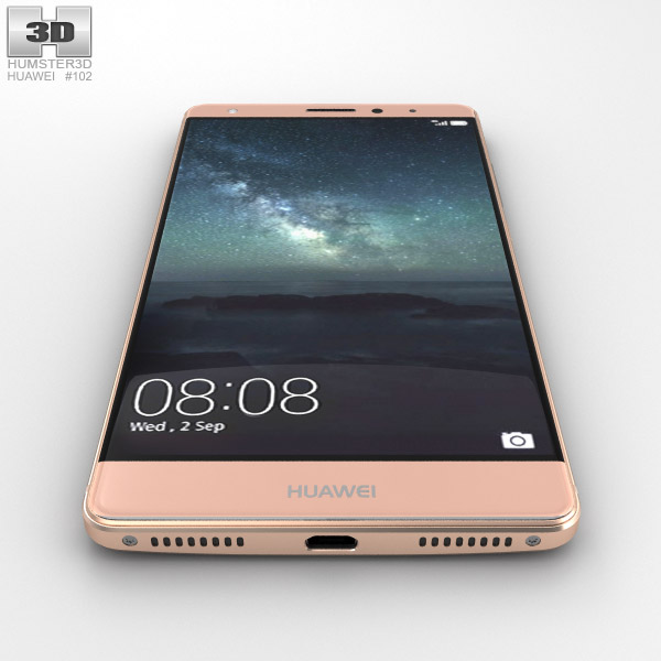 Huawei mate s clipart clipart freeuse stock Huawei Mate S Rose Gold 3D model clipart freeuse stock