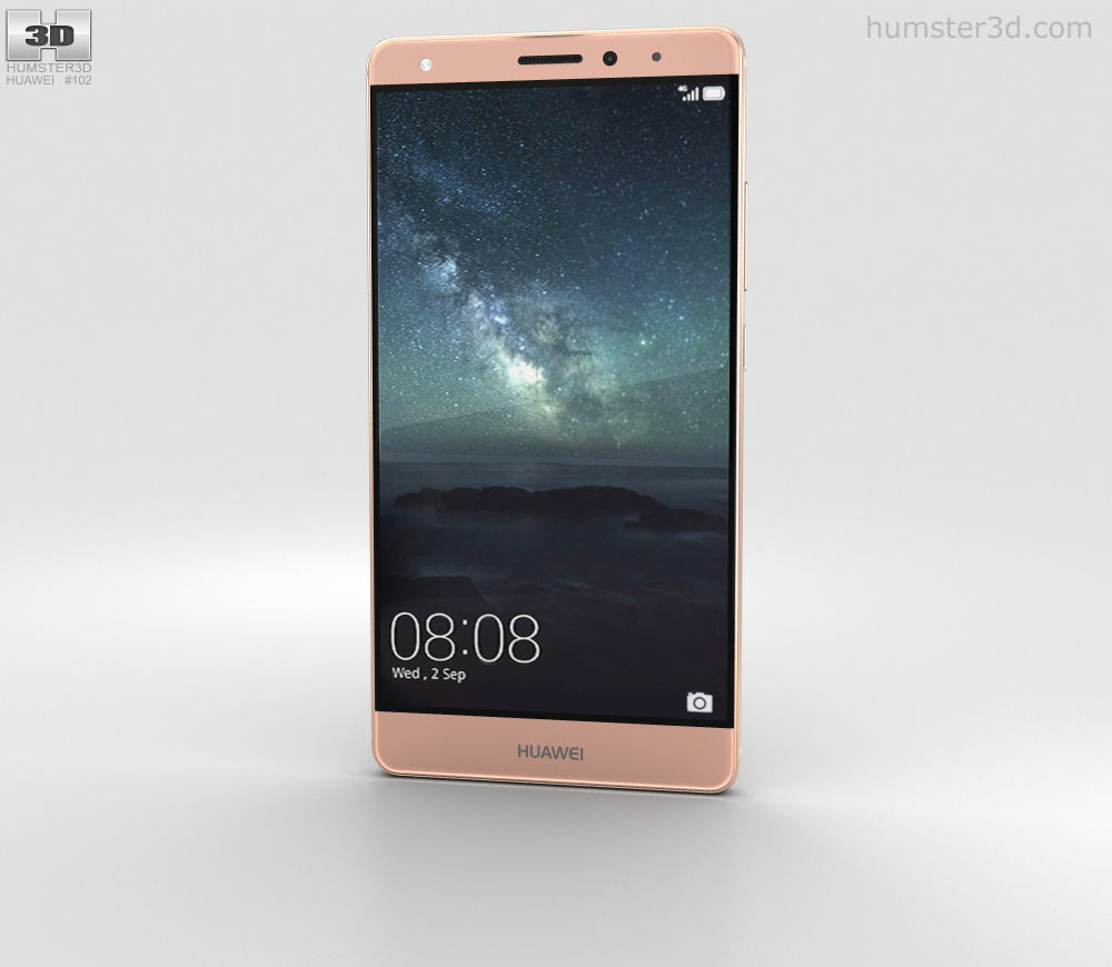 Huawei mate s clipart png transparent library Huawei Mate S Rose Gold 3D model png transparent library