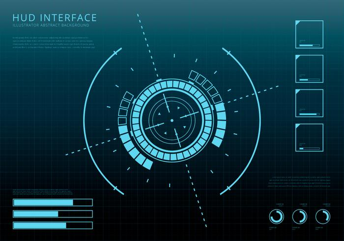 Hud interface clipart