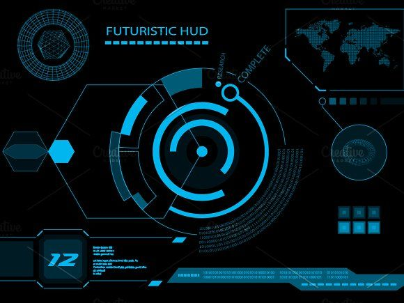 Hud interface clipart clipart Futuristic HUD, Touch GUI Elements by BeOGraphic on ... clipart