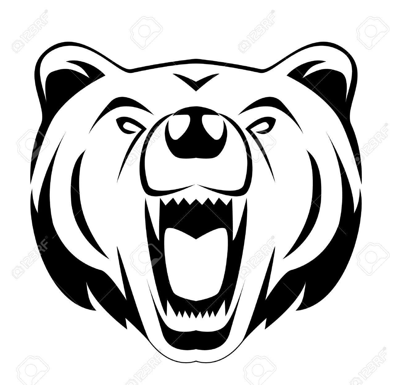 Huella de oso polar clipart blanco y negro royalty free download Stock Vector | siluetas. | Cokies y Siluetas royalty free download
