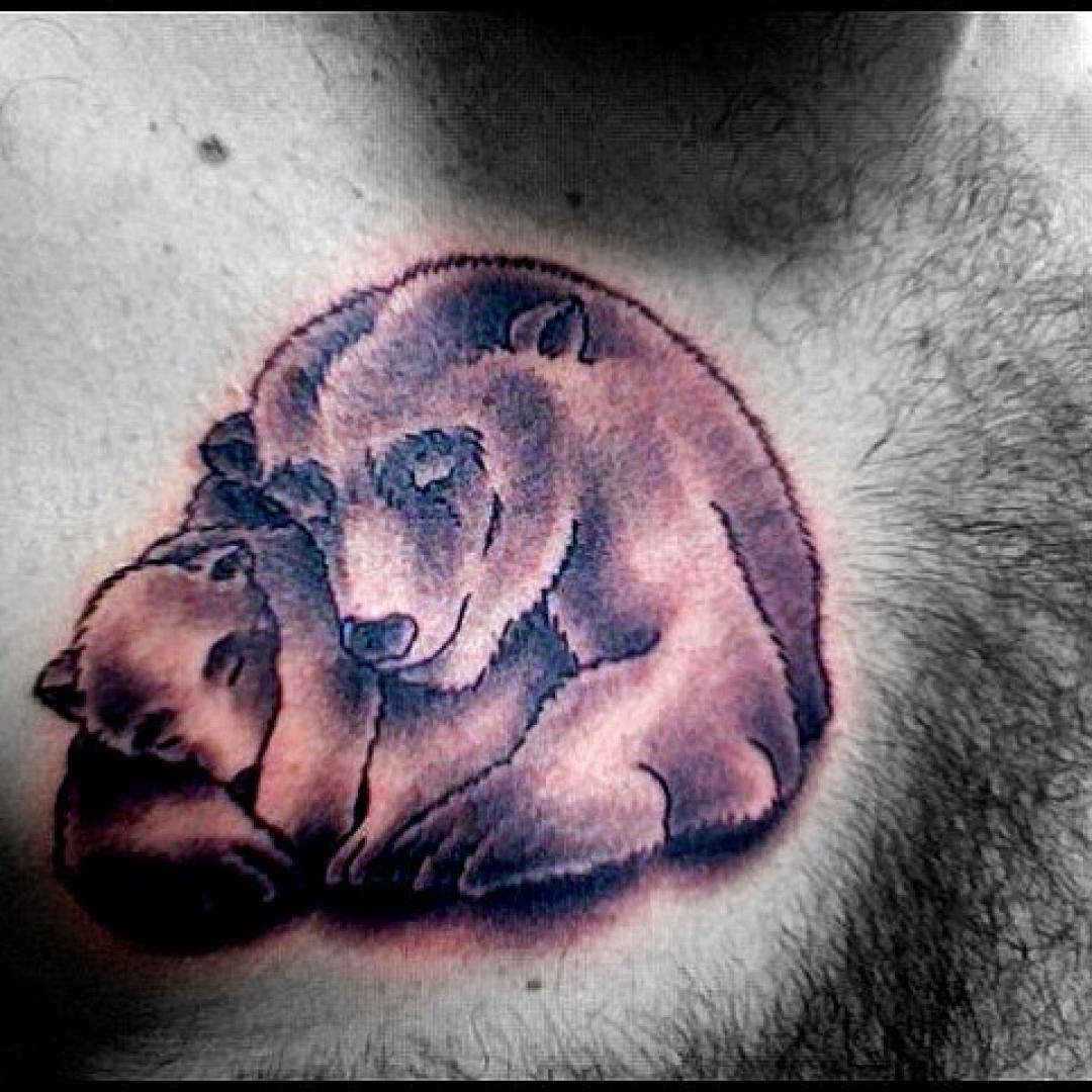 Huella de oso polar clipart blanco y negro png free stock Tatuajes de osos: diseños y significado - VIX png free stock