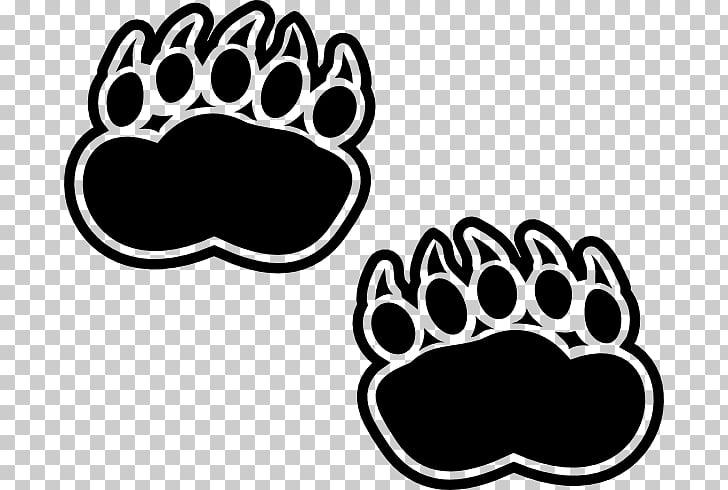 Huella de oso polar clipart blanco y negro free download Huella de oso polar de oso negro americano, huellas de ... free download