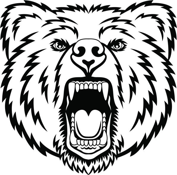 Huella de oso polar clipart blanco y negro black and white download Tatuajes de osos: diseños y significado - VIX black and white download