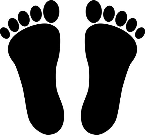 Huellas clipart graphic black and white library Clipart vectorial de huellas | Vectores de dominio público graphic black and white library