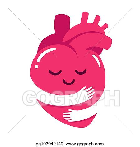 Hug yourself clipart clip free stock EPS Vector - Love yourself heart hug. Stock Clipart ... clip free stock