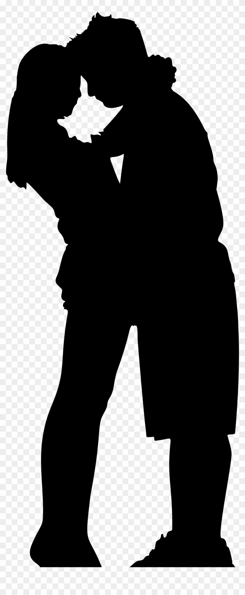 Hugs and kiss clipart black and white image download Hug Clipart Silhouette - Couple Hugging Silhouette Png ... image download