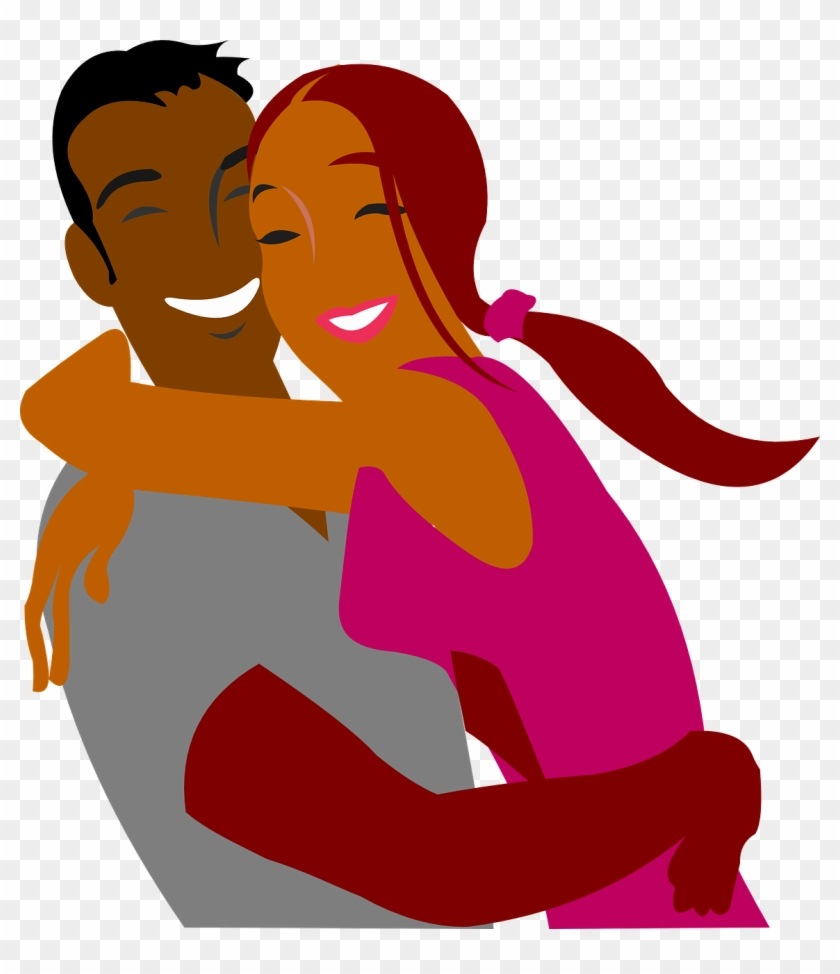 Hugs and kiss clipart black and white png library stock Png Black And White Library Black Cartoon Couples Image ... png library stock