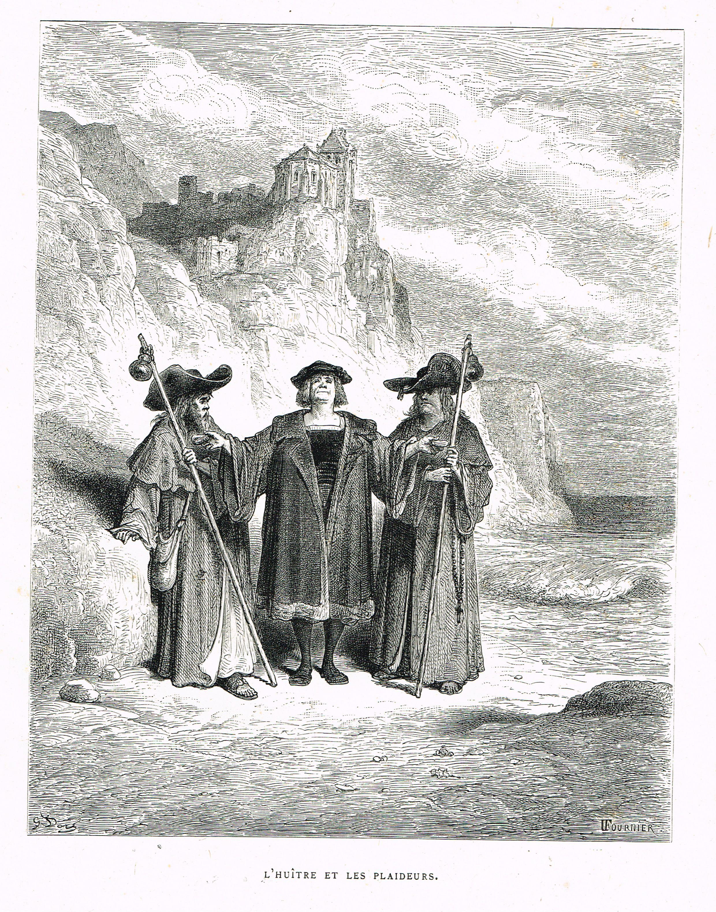 Huitres clipart black and white free svg black and white L\'huître et les plaideurs - fable de Jean de La Fontaine ... svg black and white