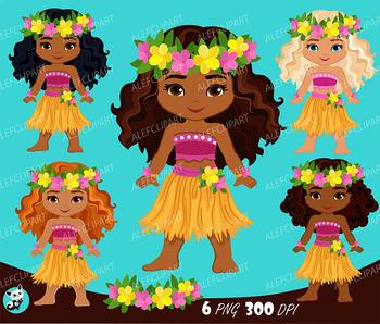 Hula girls clipart clipart transparent library Luau Dancers, Hawaii tropical, Luau Clipart, hula girls,Multicultural girls. clipart transparent library