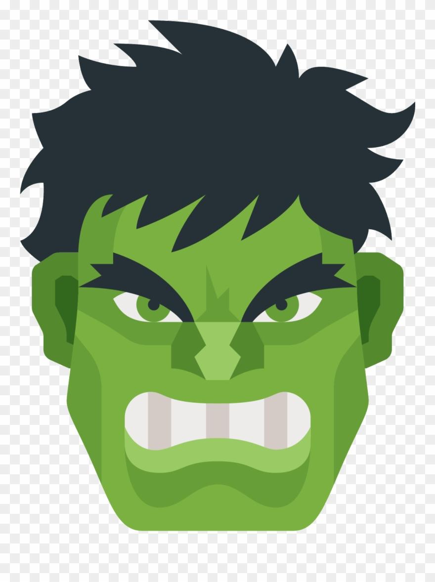 Hulk face clipart