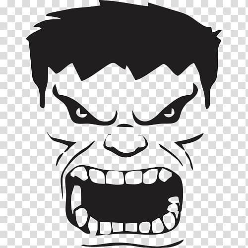 Hulk face clipart clip art freeuse stock Hulk Wall decal Sticker Thor, Hulk transparent background ... clip art freeuse stock