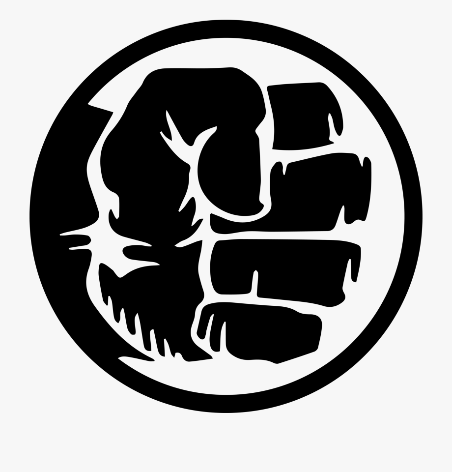 Hulk logo clipart png library stock Hulk Fist - Hulk Fist Black And White #927516 - Free ... png library stock