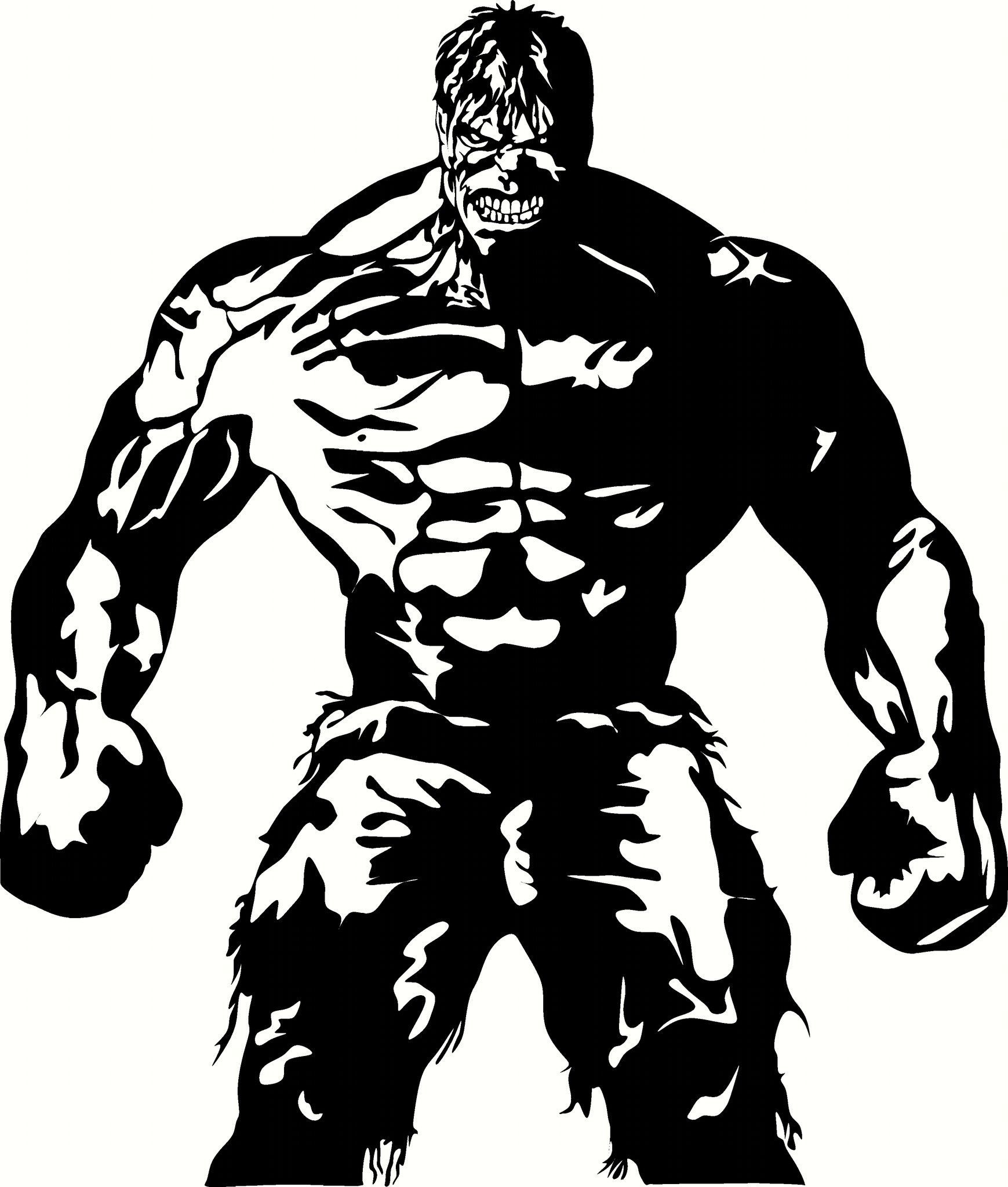 Hulk on motorcycle black and white clipart image transparent stock Incredible Hulk Vinyl Cut Out Decal - Choose your Color and ... image transparent stock