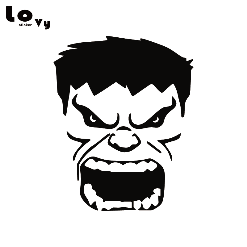 Hulk on motorcycle black and white clipart picture library library Detail Feedback Questions about Cartoon Hulk Vinyl Car ... picture library library