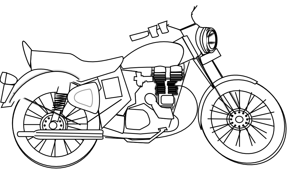 Hulk on motorcycle black and white clipart clip free Motorcycle drawing free download on ayoqq cliparts clip free