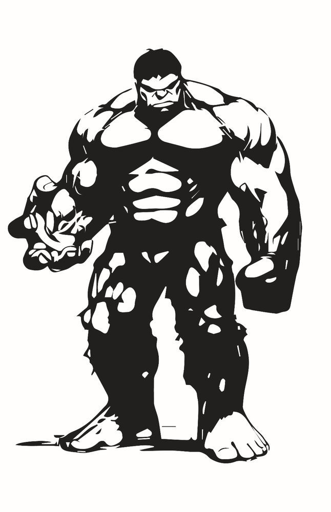 Hulk on motorcycle black and white clipart graphic download The Hulk Decal Sticker for Car/Truck Laptop Window Custom ... graphic download