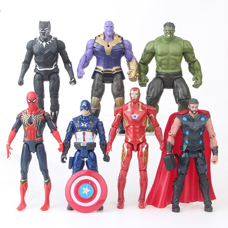 Hulk superhero clipart 13 1500 x 658 jpg free download Thanos and The Avengers 7pcs Marvel Super hero Action figure jpg free download