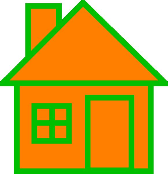 Orange house clipart clip library stock Orange House Clip Art at Clker.com - vector clip art online, royalty ... clip library stock