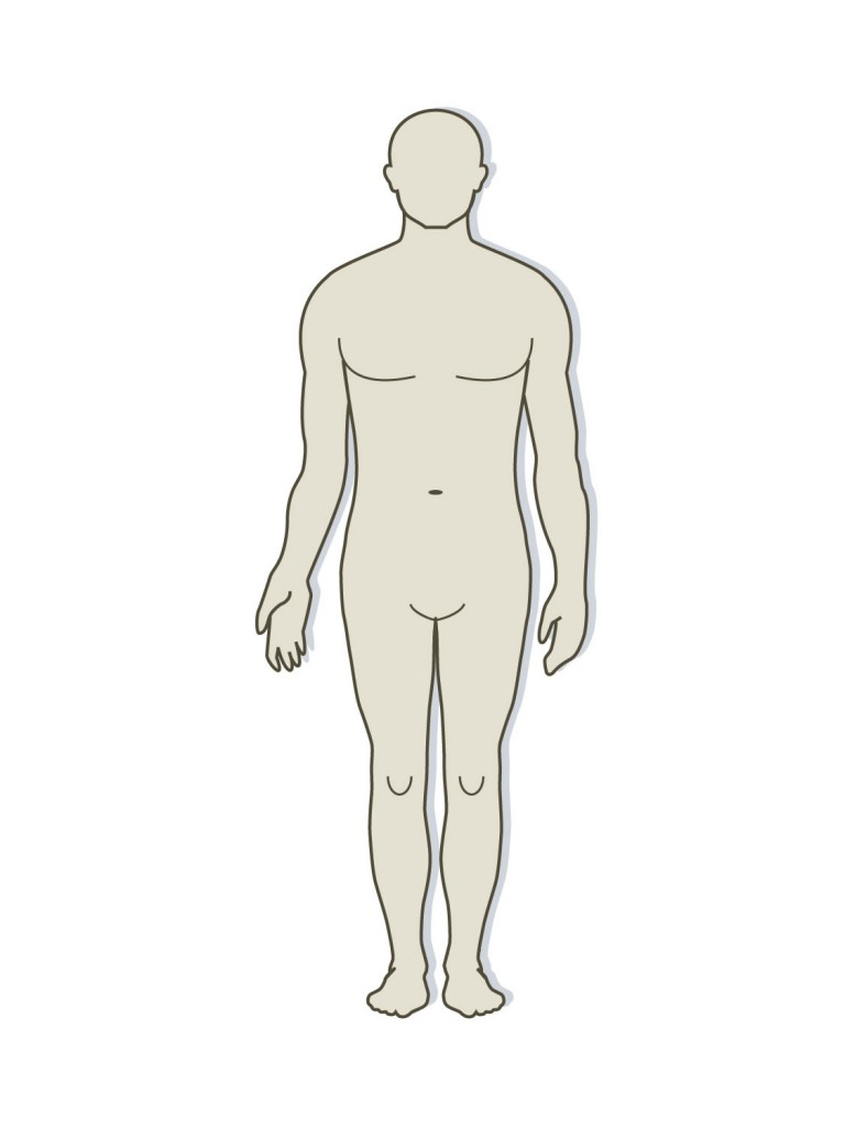 Human body model clipart picture black and white library Free Body Outline Cliparts, Download Free Clip Art, Free Clip Art on ... picture black and white library