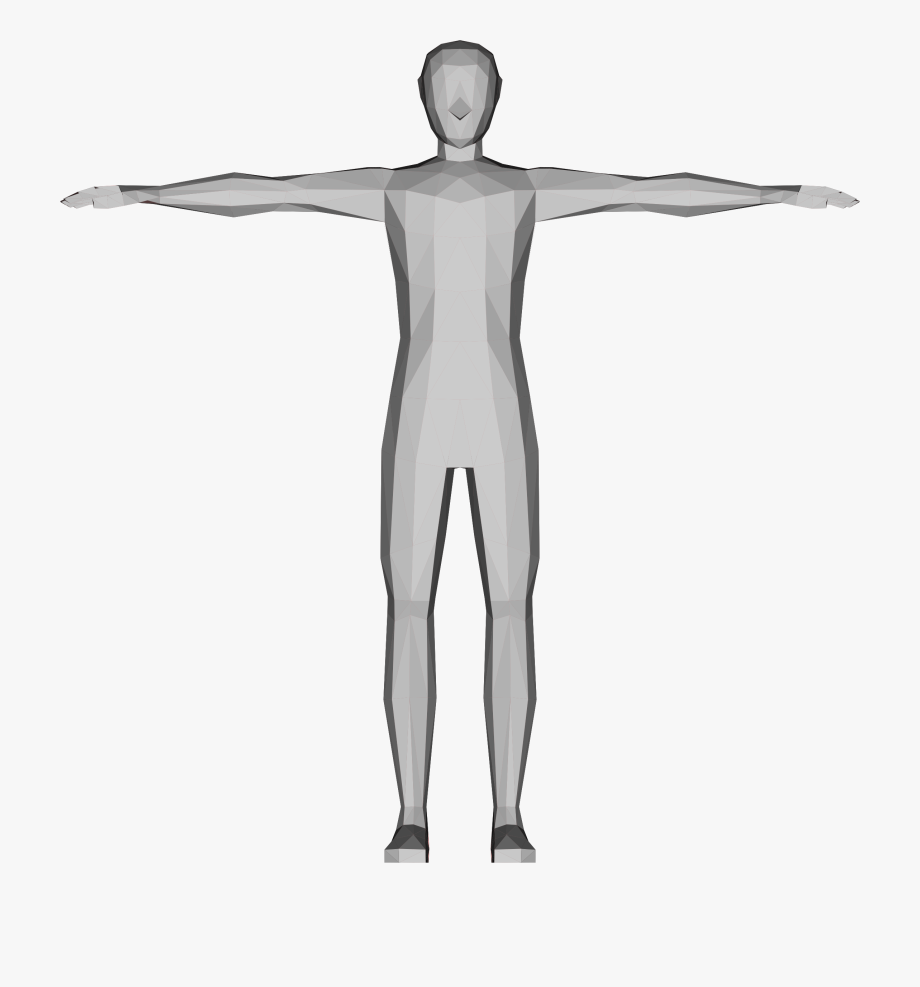 Human body model clipart banner freeuse download Human Clipart Kind Person - Very Low Poly Human Model #272796 - Free ... banner freeuse download