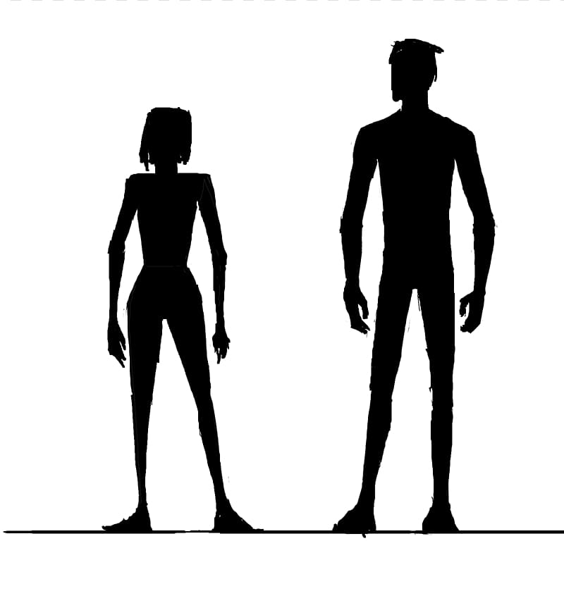 Human clipart banner black and white Female body shape Silhouette Human body , Female Shape transparent ... banner black and white