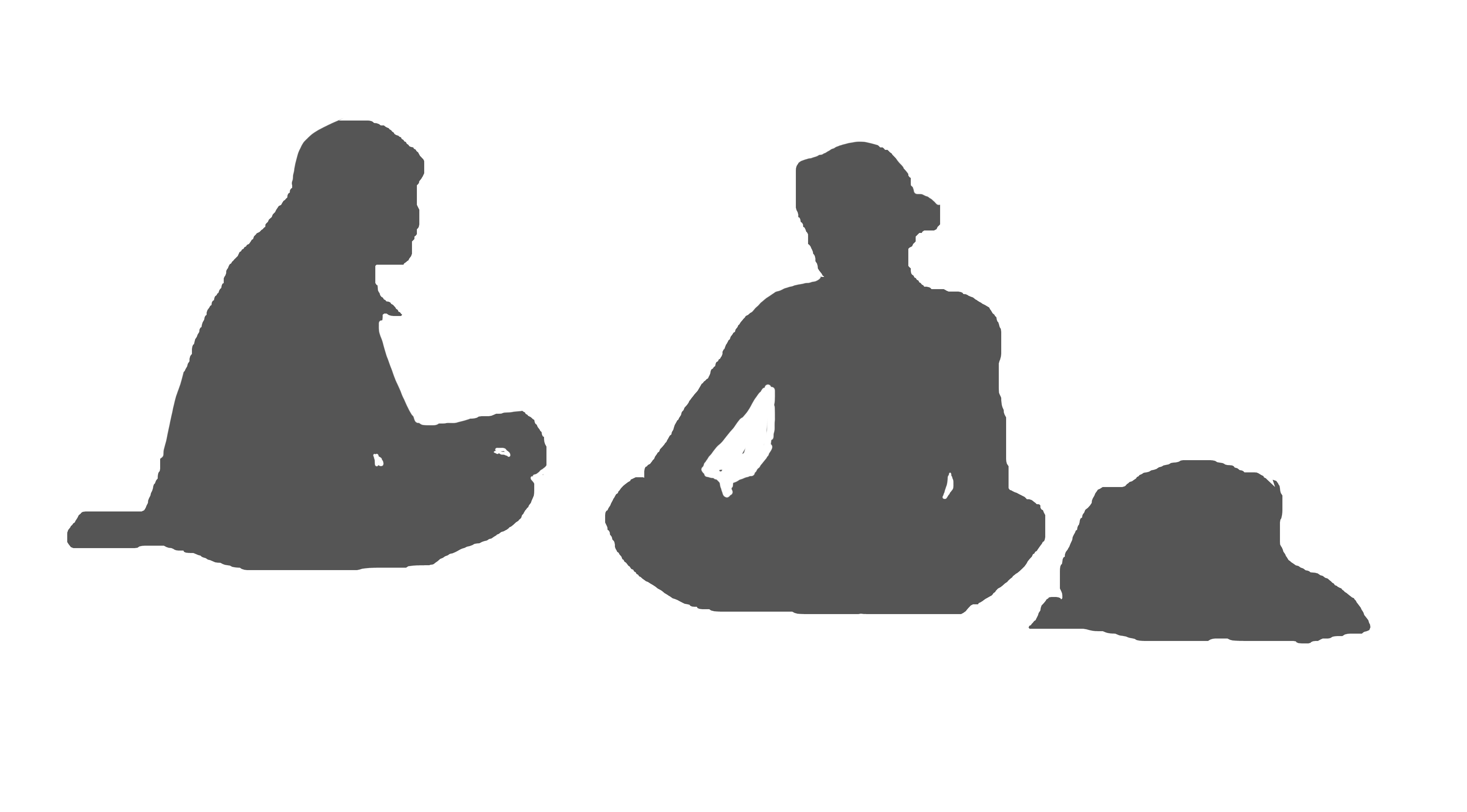 People clipart images for photoshop banner transparent library Sitting Silhouette White people - Photoshop png download - 3600*1994 ... banner transparent library