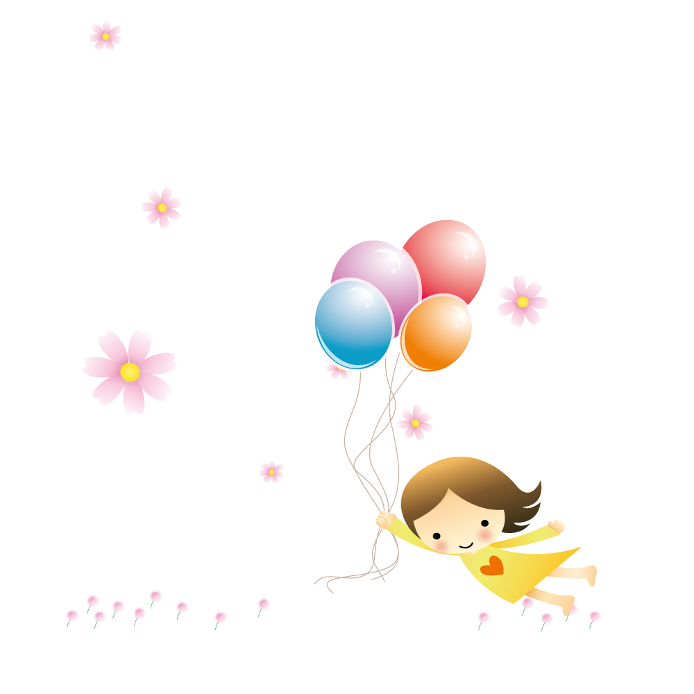 Girl Holding Balloons Silhouette at GetDrawings.com | Free for ... picture freeuse library