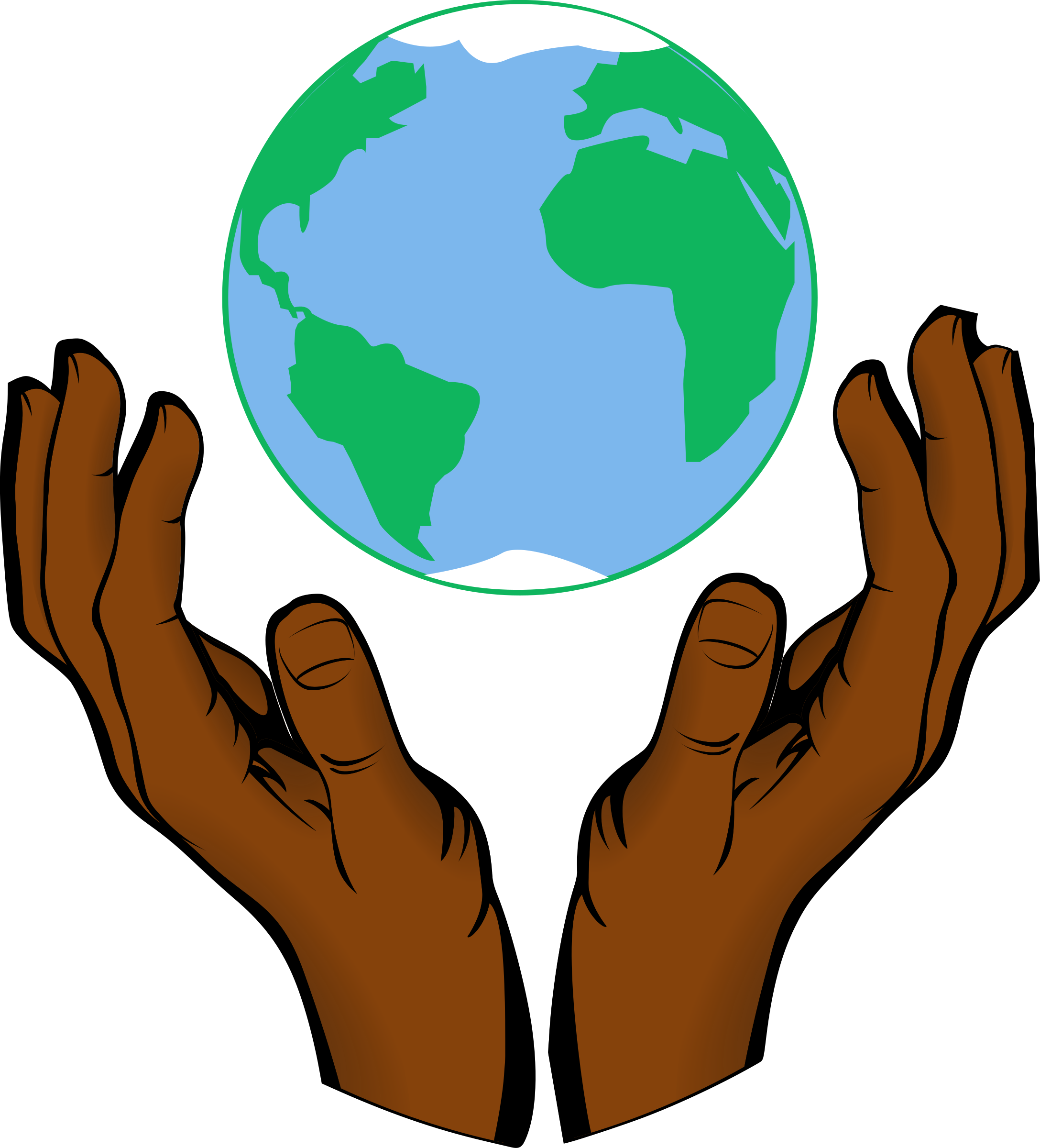 28+ Collection of Earth In Hand Clipart | High quality, free ... vector black and white library