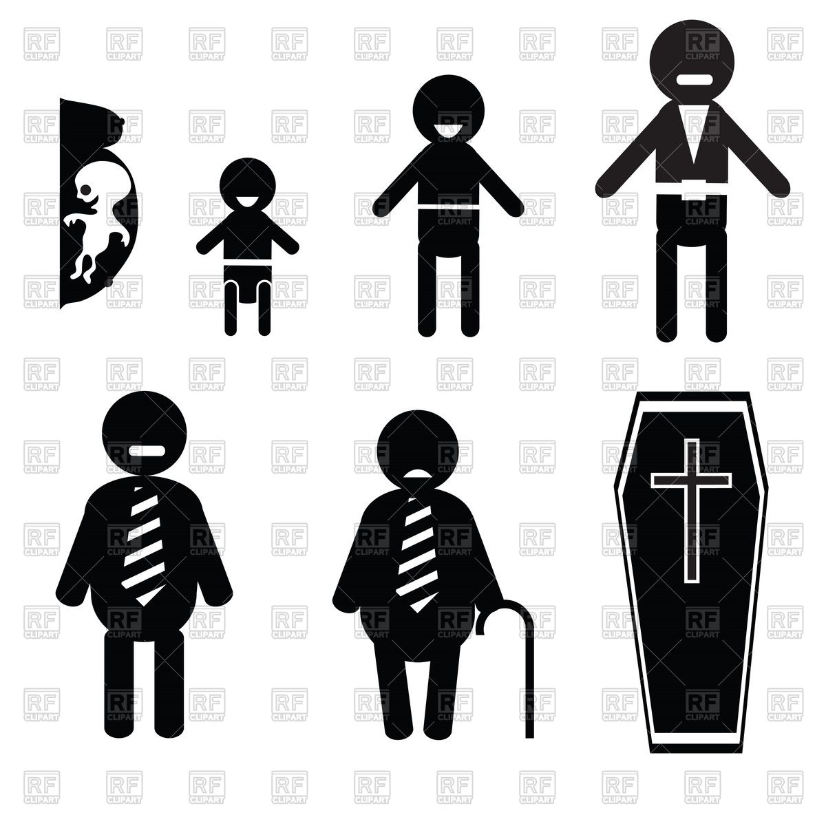 Human life cycle clipart svg download Human life from birth to death Vector Image #39599 – RFclipart svg download