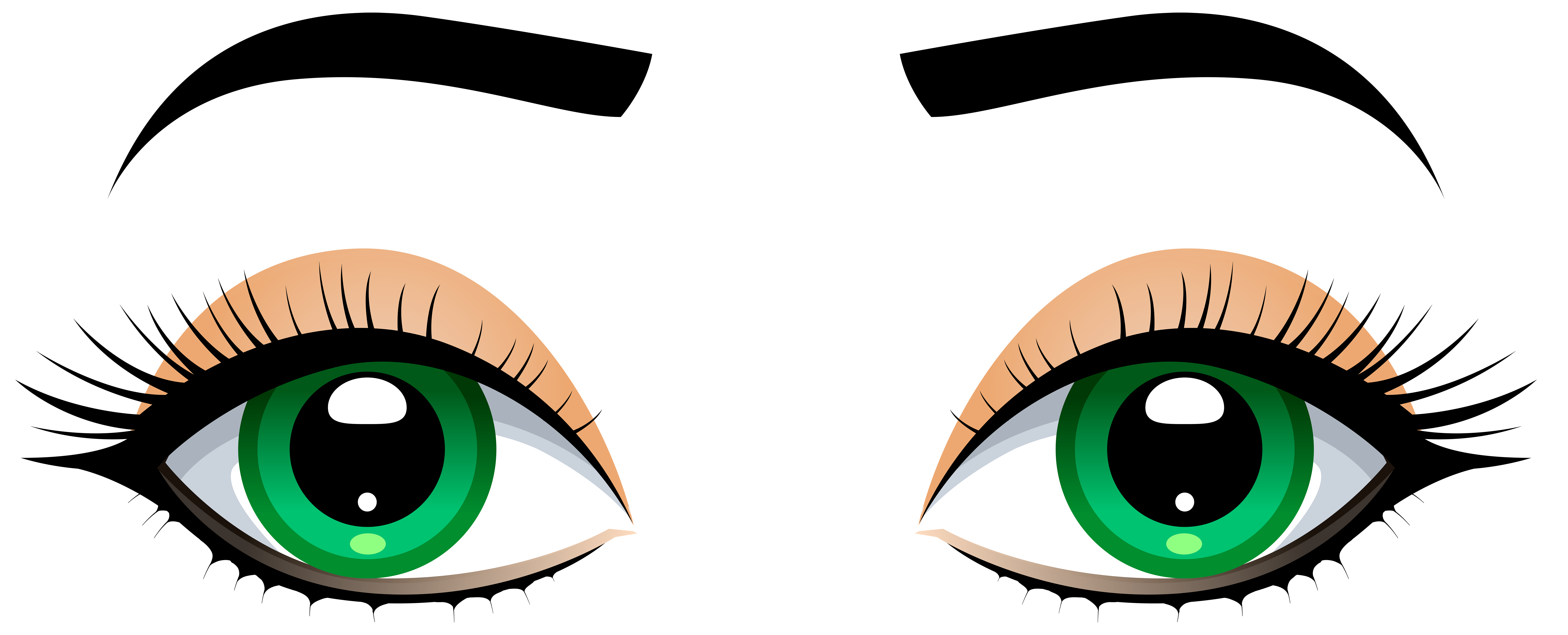 Human money clipart black and white library Female Eyes with Eyebrows PNG Clip Art - Best WEB Clipart black and white library