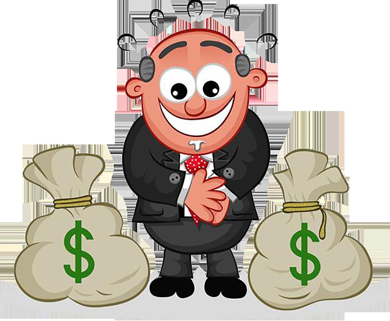 Human money clipart clip art black and white Cartoon Clip art - greedy man 1250*1029 transprent Png Free Download ... clip art black and white