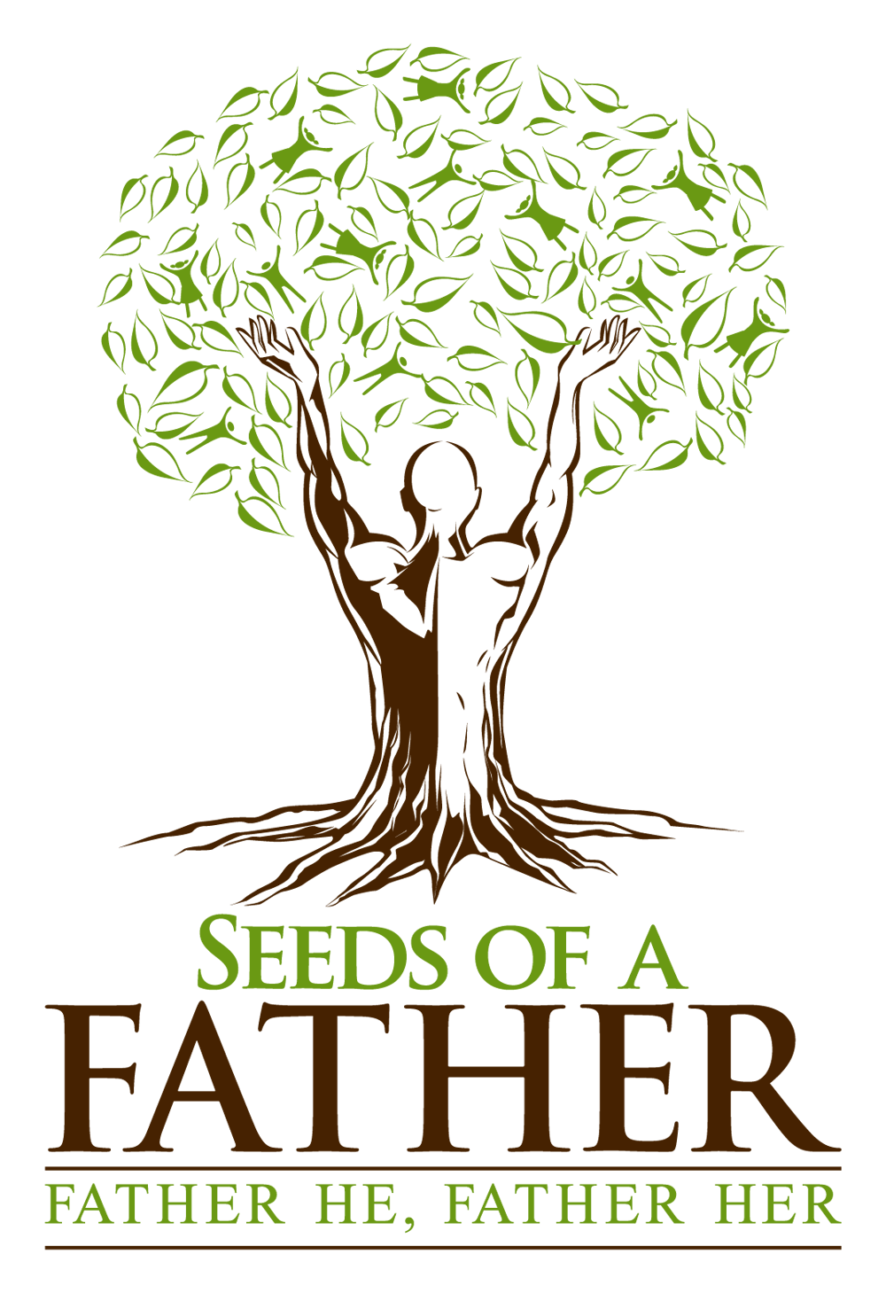Human tree clipart image free stock Powerful church logo representing a growing tree with a human body ... image free stock