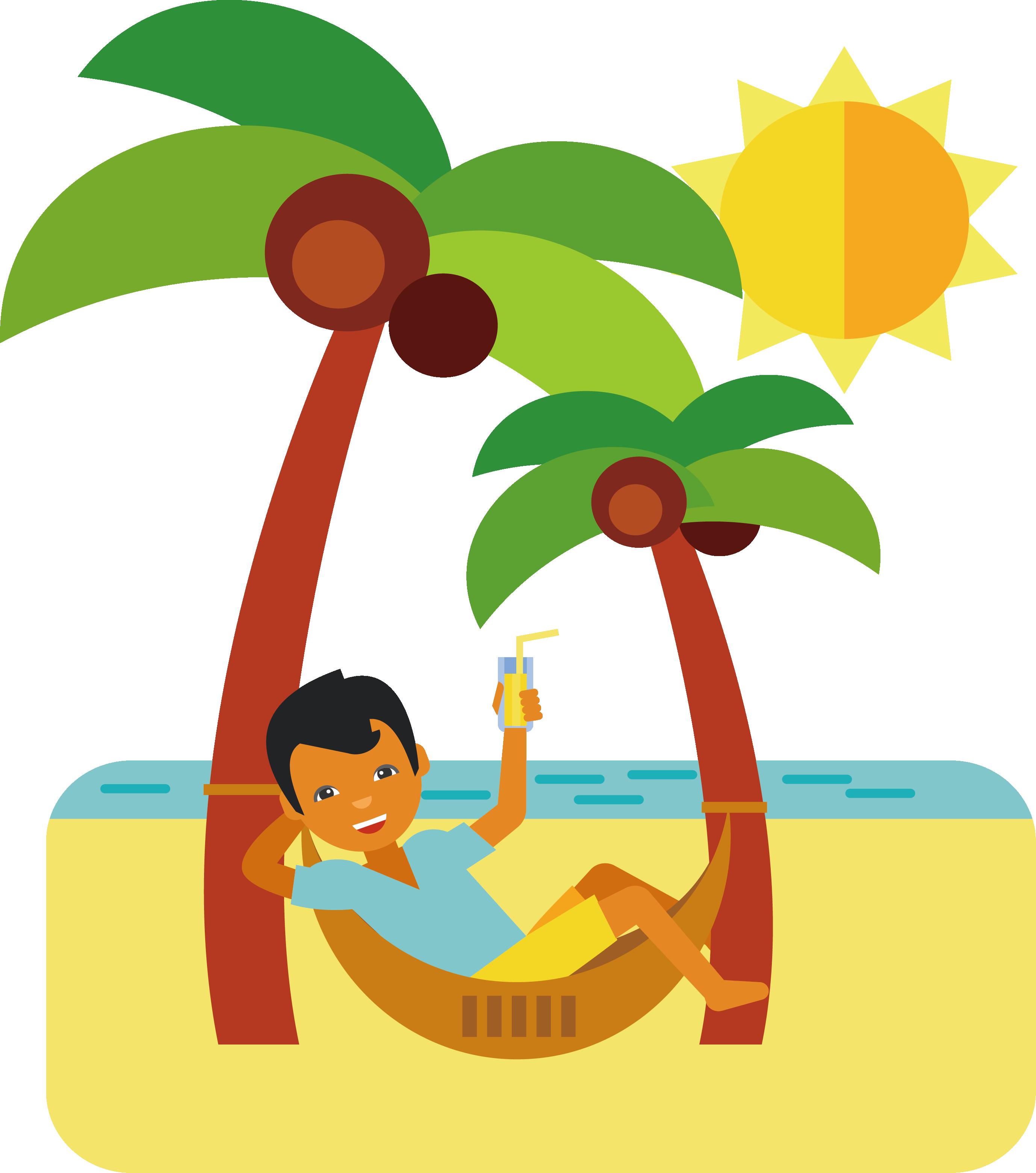 Human tree clipart clipart download Cartoon Beach Clip art - Beach vacation time 2757*3122 transprent ... clipart download