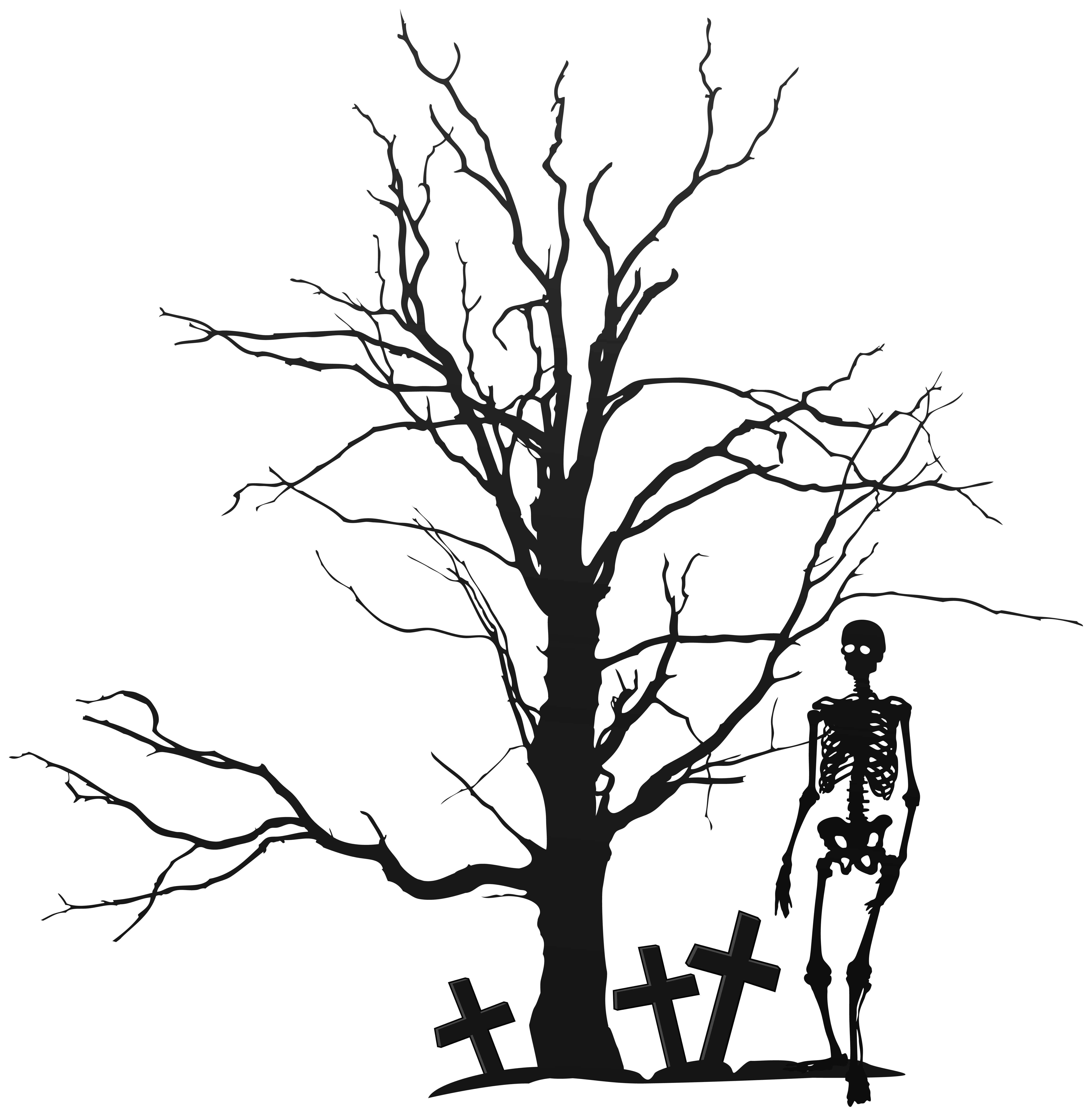 Human tree clipart clip art library library The Halloween Tree Clip art - Halloween Tree and Skeleton PNG ... clip art library library