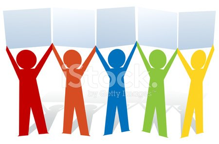 Humans holding signs clipart clip transparent stock Paper People Holding Signs stock vectors - 365PSD.com clip transparent stock