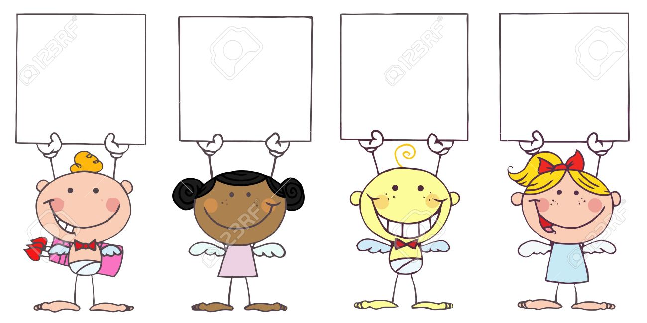 Humans holding signs clipart clipart transparent Silhouettes Of People Holding Placards Or Signs With All Peopl - 233 ... clipart transparent
