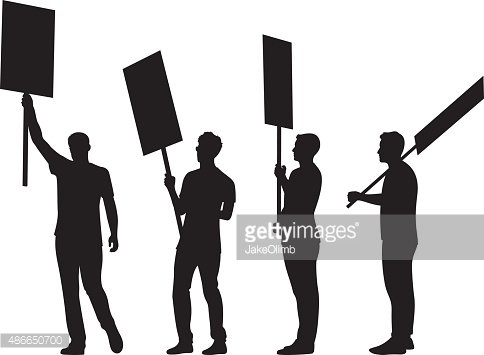 Humans holding signs clipart picture library library People Holding Signs Silhouettes premium clipart - ClipartLogo.com picture library library