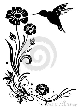 Hummingbirds and flowers clipart graphic library stock Hummingbird On Flower Silhouette Royalty Free Stock Photography ... graphic library stock