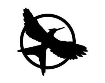 Hunger games clipart png freeuse library Mockingjay Symbol Black And | tattoo art | Hunger games mockingjay ... png freeuse library