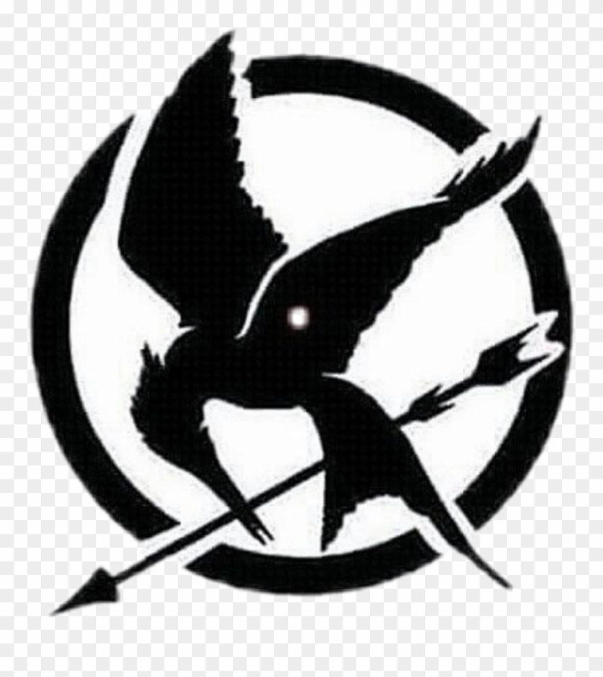 Hunger games clipart graphic black and white stock sinsajo #the Hunger Games #black - Mockingjay Logo Hunger Games ... graphic black and white stock
