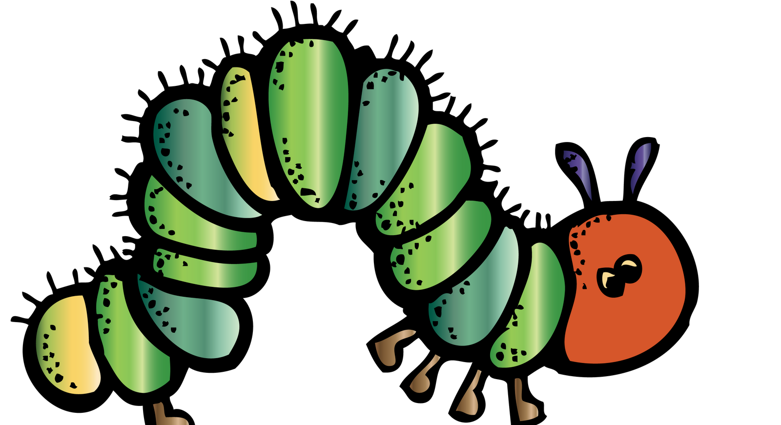 Hungry caterpillar apple clipart clip royalty free download caterpillar-melonheadz-colored | Cute Clipart for my Class ... clip royalty free download