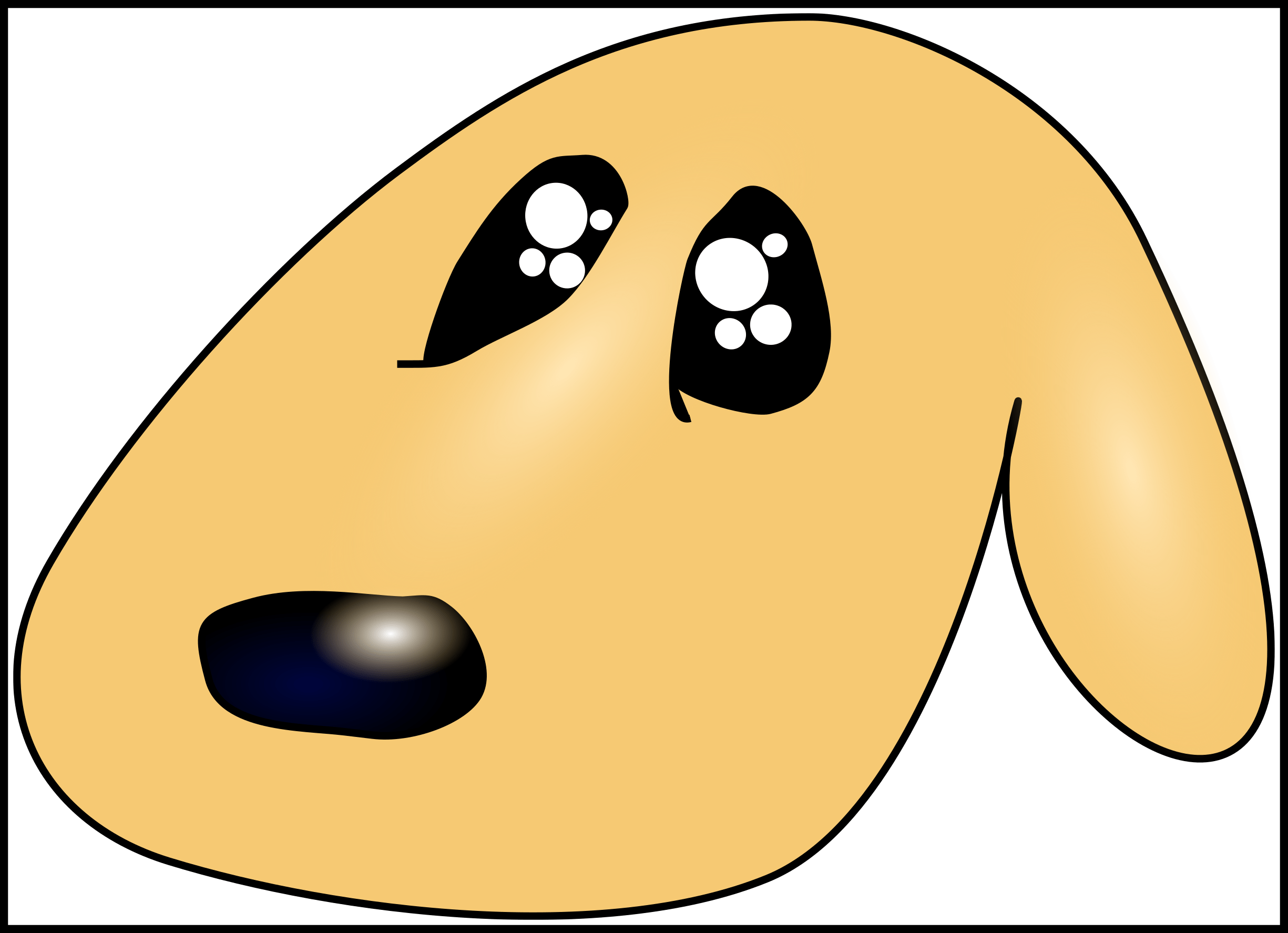 Awesome Illustration Of Poor Hungry Dog Cartoon Pict Sad And ... clip art black and white download