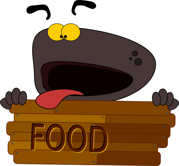 Hungry Dog Character Clip Art at Clker.com - vector clip art online ... jpg black and white library