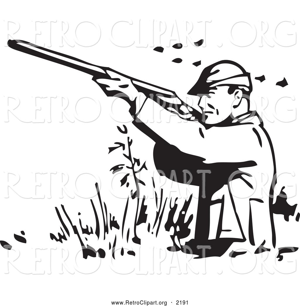 Hunter clipart black and white jpg transparent Hunting clipart black and white 5 » Clipart Station jpg transparent