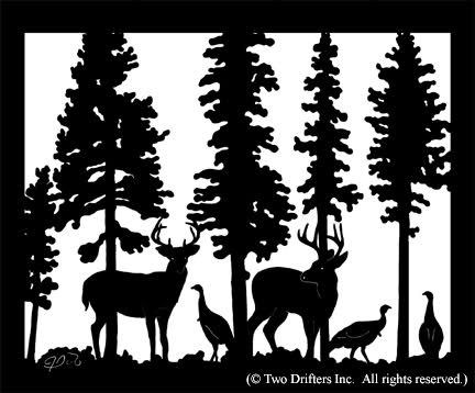Hunting clipart black and white deer turkey vector royalty free library turkey hunting clipart | Wild Turkey Silhouette | animalgals ... vector royalty free library