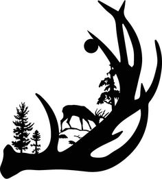 Hunting clipart black and white deer turkey banner black and white download 335 Best Deer Hunting Silhouettes, Vectors, Clipart, Svg, Templates ... banner black and white download