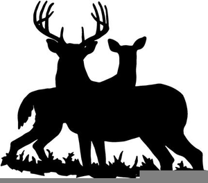 Hunting deer clipart black and white library Free Clipart Of Deer Hunting | Free Images at Clker.com - vector ... black and white library
