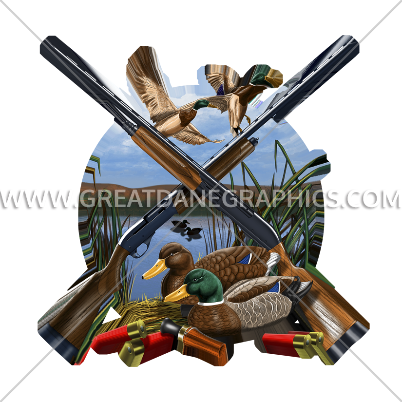 Hunting fishing and baseball clipart png black and white download Duck Hunting Layout | Production Ready Artwork for T-Shirt Printing png black and white download