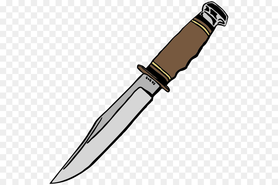 Hunting knife clipart svg free library Kitchen Cartoon png download - 587*600 - Free Transparent Bowie ... svg free library